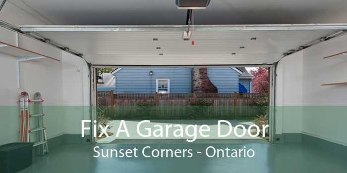 Fix A Garage Door Sunset Corners - Ontario